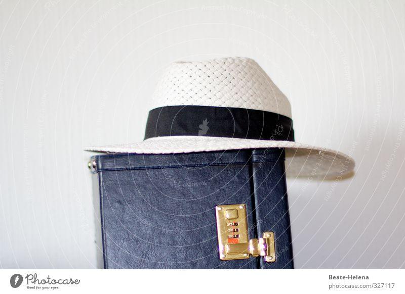ich bin dann mal weg Ferien & Urlaub & Reisen blau weiß Erholung Freude Gefühle Stil Gesundheit Mode träumen Musik Freizeit & Hobby gold elegant Lifestyle