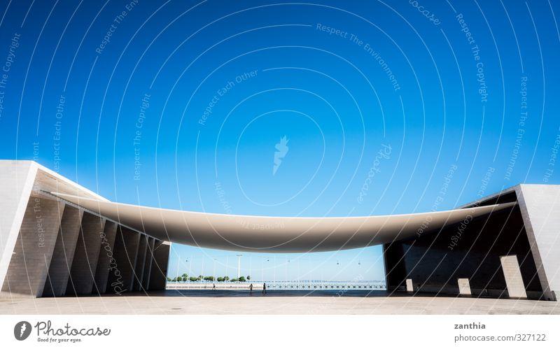 Expo 98 Stadt Ferne Wand Gebäude Mauer Architektur Stil Kunst Häusliches Leben Design modern Perspektive Zukunft Dach Macht Wandel & Veränderung