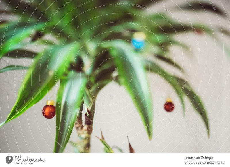 Weihnachtspalme Häusliches Leben Wohnung Weihnachten & Advent ästhetisch trendy einzigartig Weihnachtsbaum Palme Drachenbaum Christbaumkugel Schmuck