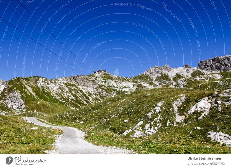 Nebelhorn Gipfelstation Natur Ferien & Urlaub & Reisen Pflanze Sonne Landschaft ruhig Umwelt Berge u. Gebirge Herbst Gras Wege & Pfade Stein Felsen natürlich