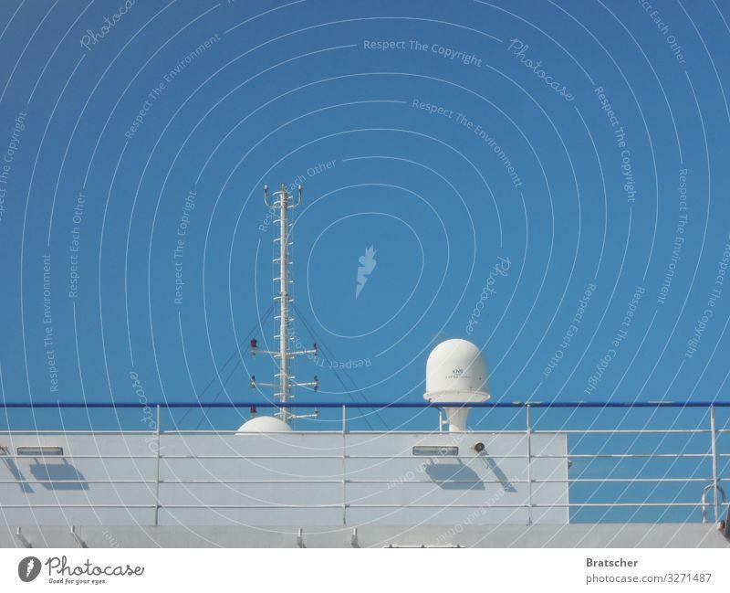 Textfreiraum oben Ferien & Urlaub & Reisen Tourismus Ausflug Kreuzfahrt Sommer Meer Himmel Wolkenloser Himmel Schönes Wetter Verkehr Schifffahrt Passagierschiff
