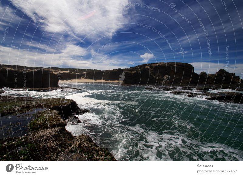 Kenton Himmel Natur Ferien & Urlaub & Reisen Wasser Sommer Sonne Meer Wolken Strand Ferne Umwelt Küste natürlich Freiheit Horizont Wellen
