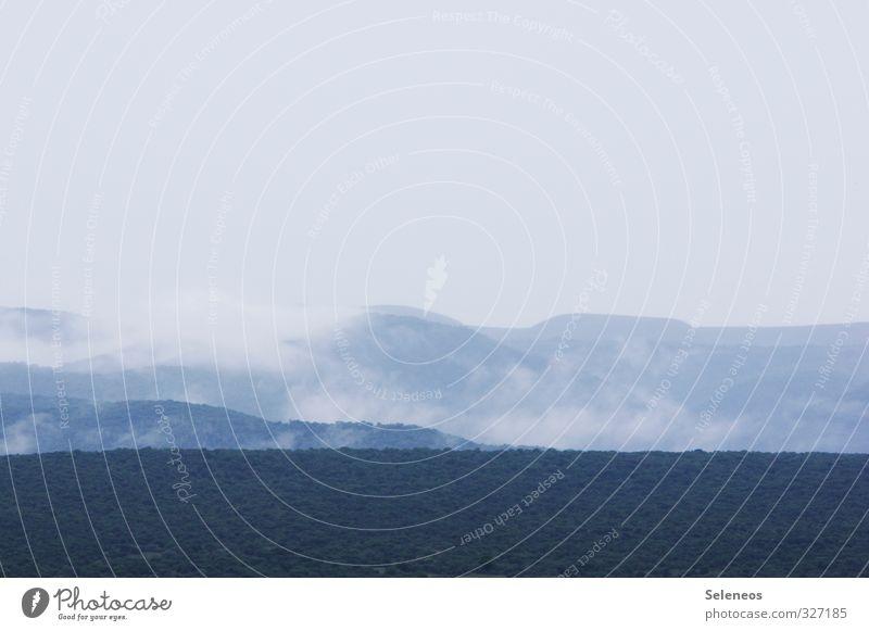 Bergatem Ferien & Urlaub & Reisen Tourismus Ausflug Abenteuer Ferne Freiheit Umwelt Natur Landschaft Himmel Wolkenloser Himmel Horizont Klima Wetter Nebel Hügel