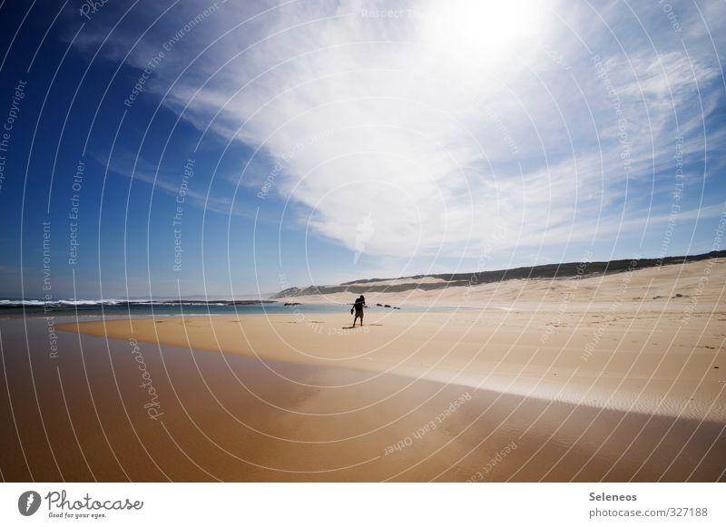 lonely planet Himmel Natur Ferien & Urlaub & Reisen Wasser Sommer Sonne Meer Landschaft Wolken Strand Ferne Umwelt Küste Freiheit natürlich Horizont