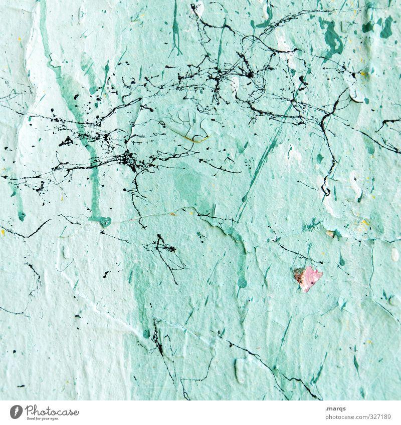 Splash Stil Design Anstreicher Mauer Wand Farbstoff Farbfleck dreckig einfach hell einzigartig grün Farbe Farben und Lacke Hintergrundbild Farbfoto
