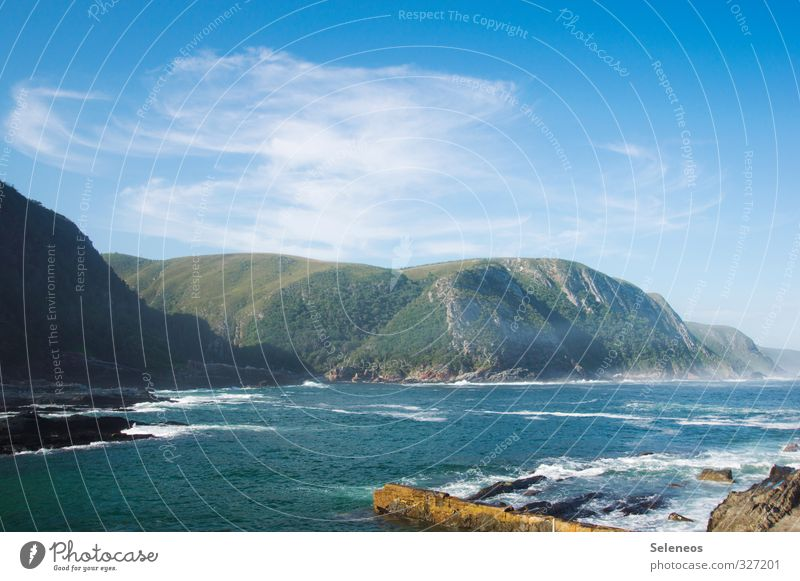 Walheimat Himmel Natur Ferien & Urlaub & Reisen Wasser Sommer Sonne Meer Landschaft Wolken Strand Ferne Berge u. Gebirge Umwelt Küste Freiheit natürlich