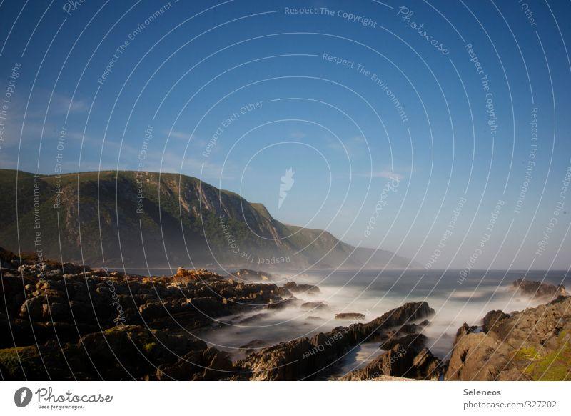 Jetzt! Himmel Natur Ferien & Urlaub & Reisen Sommer Sonne Meer Landschaft Ferne Strand Umwelt Berge u. Gebirge Reisefotografie Küste Freiheit Horizont Wellen