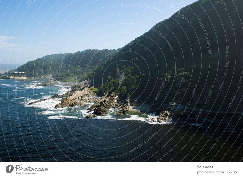 Tsitsikamma Himmel Natur Ferien & Urlaub & Reisen Wasser Sommer Sonne Meer Landschaft Ferne Strand Umwelt Berge u. Gebirge Küste natürlich Freiheit Felsen