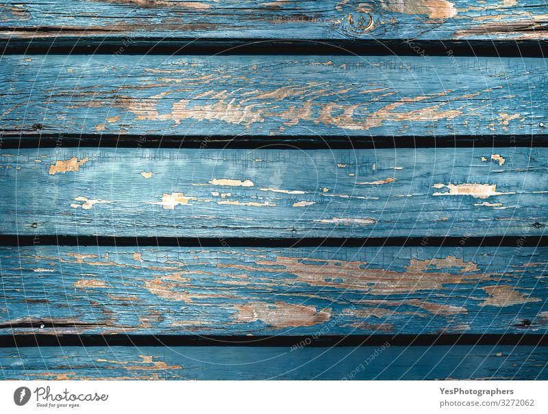 Alter blauer Holzhintergrund. Dielen mit verschrumpelter blauer Farbe Architektur Fassade Fenster Tür alt natürlich retro türkis gealtertes Holz Antiquität