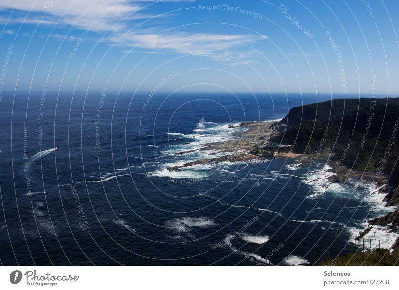 zurück zum Meer Himmel Natur Ferien & Urlaub & Reisen Wasser Sommer Sonne Landschaft Wolken Strand Ferne Umwelt Berge u. Gebirge Küste Freiheit natürlich