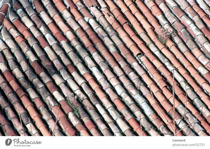 Ziegeldach alt Haus Gebäude Architektur Backstein Decke