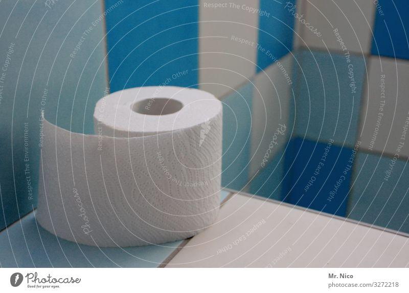 gut fürs Geschäft Körperpflege Gesundheit Wohnung Bad Sauberkeit blau weiß Toilette Toilettenpapier Fliesen u. Kacheln Reinigen Stuhlgang Bayern Dinge