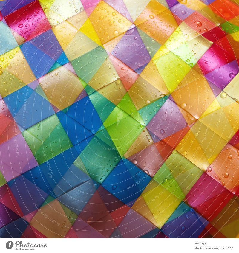 Wet Stil Design Kunststoff Linie Fliesen u. Kacheln Coolness trendy modern nass schön mehrfarbig Farbe Perspektive Vielfältig Doppelbelichtung Farbfoto