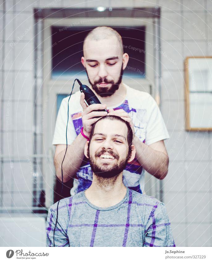 Peter says Mensch Jugendliche Freude Erwachsene Junger Mann lachen 18-30 Jahre Glück Freundschaft Zusammensein maskulin authentisch Lifestyle Kommunizieren Bart