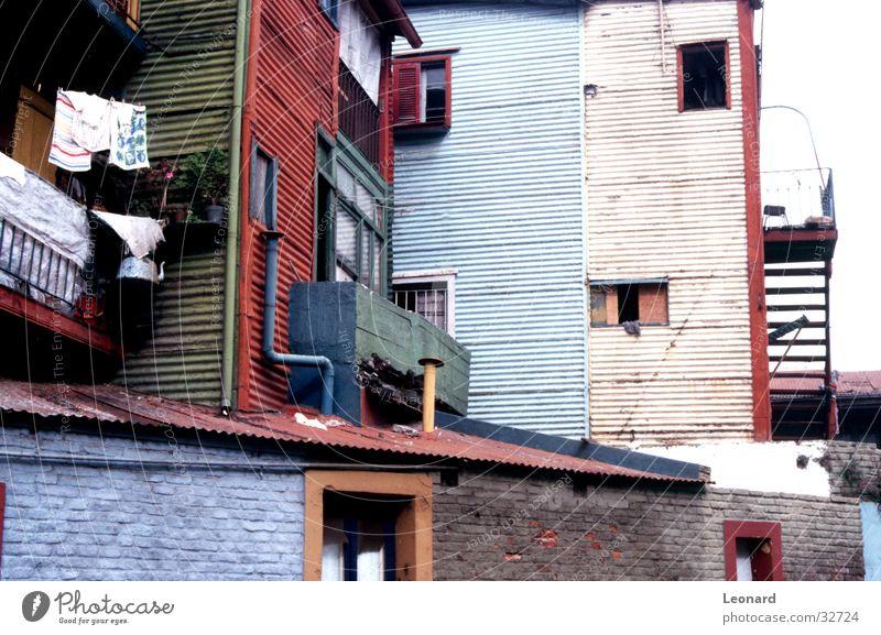 Farben an Barrio Boca, Buenos Aires, 2 Haus Architektur Treppe Bauwerk Völker Häuserzeile Ethnologie