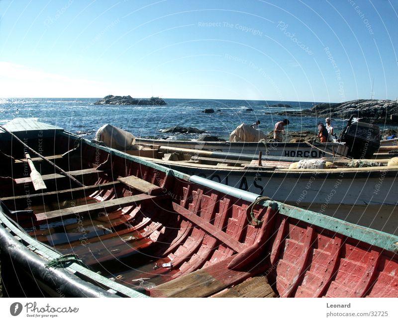 Farben boote Wasser Strand See Wasserfahrzeug Insel Schifffahrt Fischereiwirtschaft Chile Chili