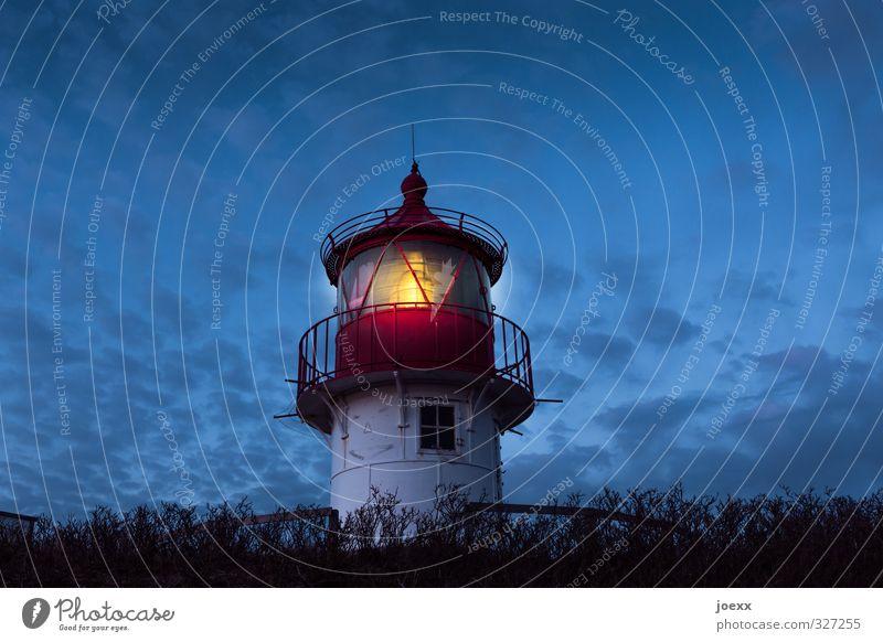 Der letzte macht das Licht aus blau weiß schwarz gelb leuchten Schönes Wetter Sicherheit Hoffnung Leuchtturm Rettung