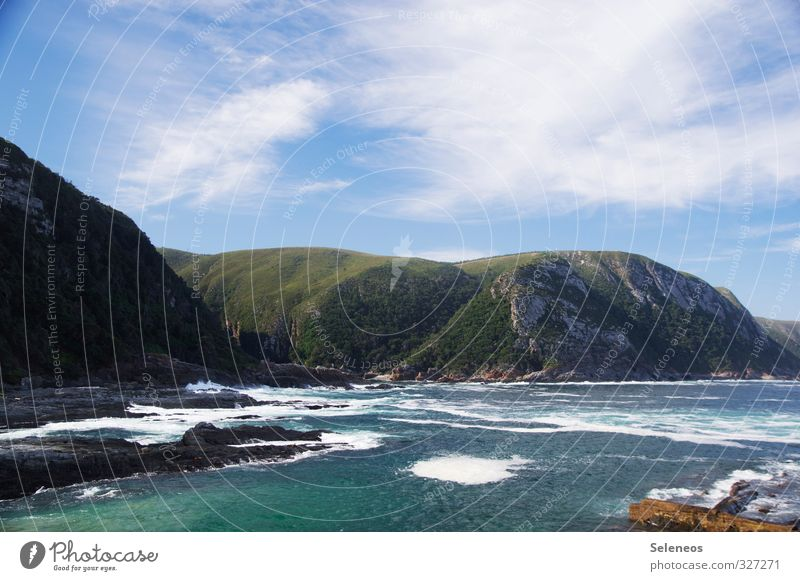 Urlaub am Meer Himmel Natur Ferien & Urlaub & Reisen Sommer Sonne Landschaft Wolken Strand Ferne Umwelt Berge u. Gebirge Küste Freiheit Tourismus Ausflug