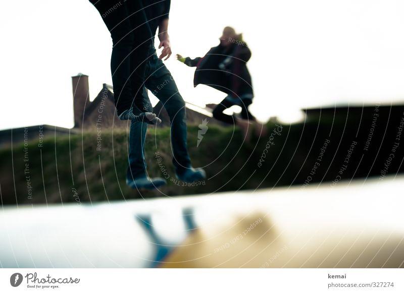Rømø | Hüpfer Mensch Kind Jugendliche Junge Frau Mädchen Freude Junger Mann 18-30 Jahre Erwachsene Leben Spielen springen Beine Fuß Freizeit & Hobby 13-18 Jahre