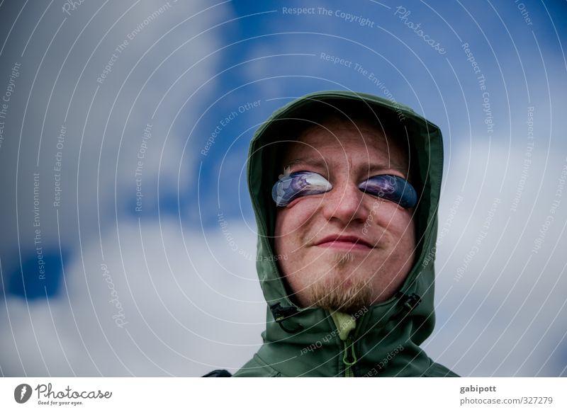 Rømø | Muschelmann Mensch maskulin Junger Mann Jugendliche Erwachsene 1 Himmel Erholung Fröhlichkeit lustig Freude Lebensfreude Frühlingsgefühle Muschelschale
