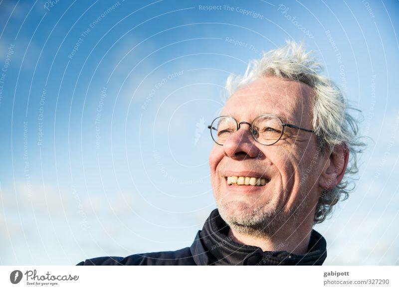 Rømø | nordseeluftatmend Mensch Himmel Mann Ferien & Urlaub & Reisen blau Freude Strand Erwachsene Ferne Leben Gefühle Freiheit Glück natürlich maskulin