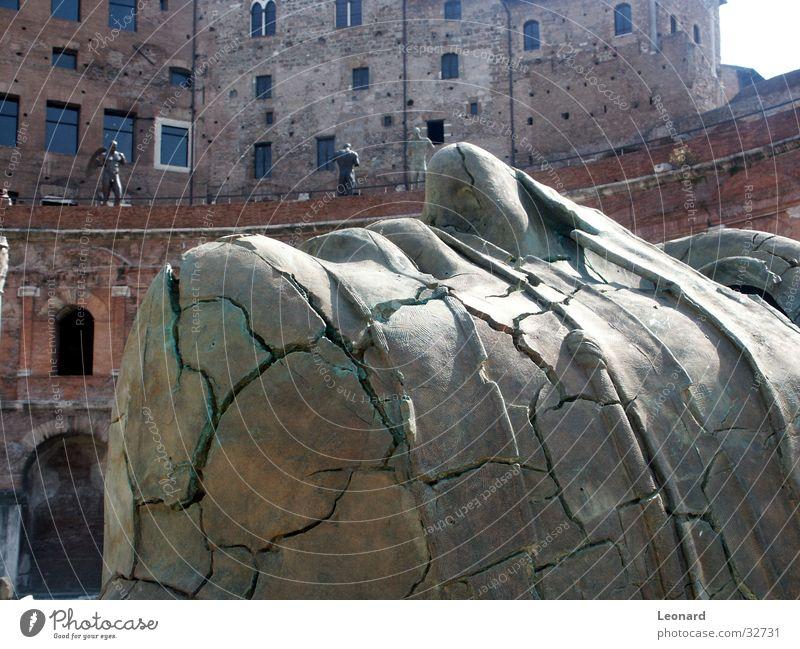 Skulptur 6 Mensch Mann Gesicht Stein Gebäude Kunst Statue Handwerk historisch Rom Ausstellung Schädel