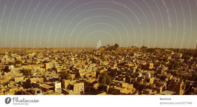 Jaisalmer Stadt Indien Haus Reisefotografie Skyline Panorama (Aussicht) Asien Armut Dritte Welt Wohnhaus Luftaufnahme Vogelperspektive Fensterblick Hälfte