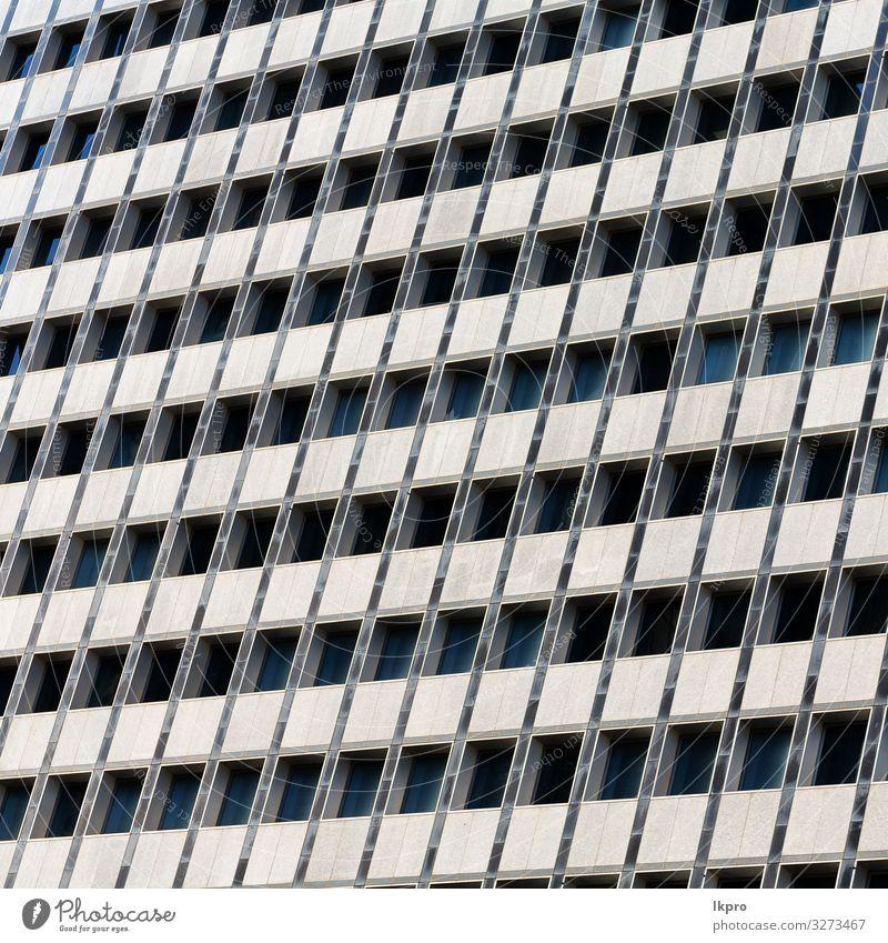 der Wolkenkratzer und die Fensterterrasse wie abstrahiert. Design Haus Arbeit & Erwerbstätigkeit Büro Business Technik & Technologie Himmel Stadtzentrum