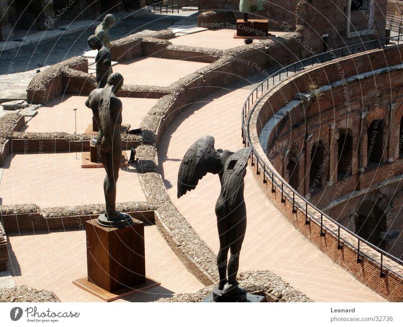 Skulptur 1 Mann Gesicht Stein Gebäude Kunst historisch Statue Handwerk Rom Ausstellung Bildhauerei Schädel