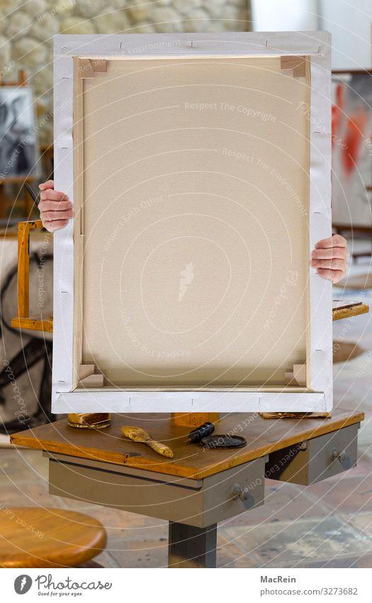 Malleinwand Kunst Kreativität Gemälde Werkstatt Künstler Pinsel Tube Atelier Paletten Malutensilien Staffelei