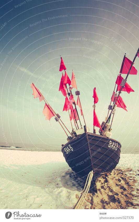 Der Duft nach Meer Himmel Natur Ferien & Urlaub & Reisen alt Einsamkeit ruhig Landschaft Strand Winter Ferne Schnee Küste Freiheit Holz Sand
