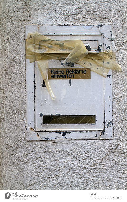 Geschriebenes l Keine Reklame einwerfen... alt Haus Wand Schriftzeichen Schilder & Markierungen Hinweisschild geschlossen Zeichen Werbung Brief Post Verbote