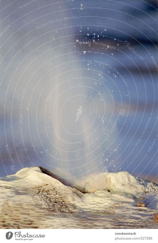 Isländische Geysire Ferien & Urlaub & Reisen Abenteuer Sightseeing Berge u. Gebirge Umwelt Natur Erde Klima Vulkan Stein Wasser blau Aggression Energie