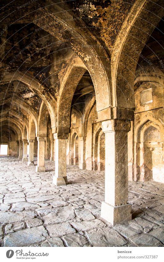 Tempel Denkmal Ruine Säule Kirche Indien Delhi Reisefotografie Bauwerk Haus Vergangenheit ruhig Menschenleer alt historisch Burg oder Schloss Palast