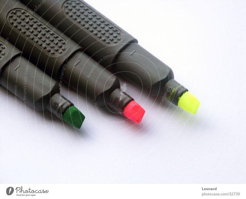 Fluor 2 grün Farbe gelb rosa Schilder & Markierungen Schriftsteller Filzstift
