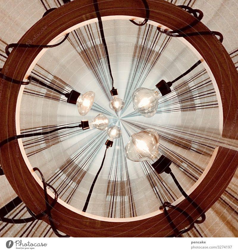 LED it be Lifestyle Design sparen Innenarchitektur Dekoration & Verzierung Lampe retro rund Leuchtdiode Lampenlicht Kabel Glühbirne Holz Kreis Deckenbeleuchtung
