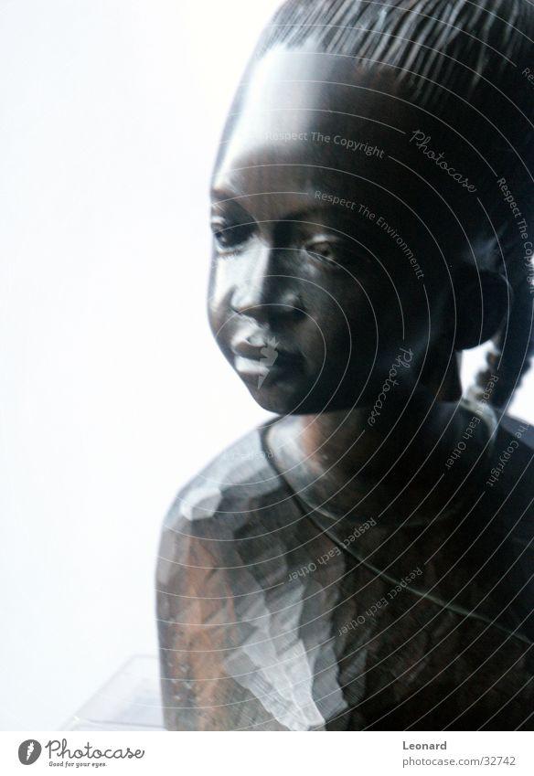 Ebenholzabbildung Frau Mensch Mädchen Gesicht Holz Kunst Afrika Statue Handwerk Skulptur Bildhauerei Holzmehl