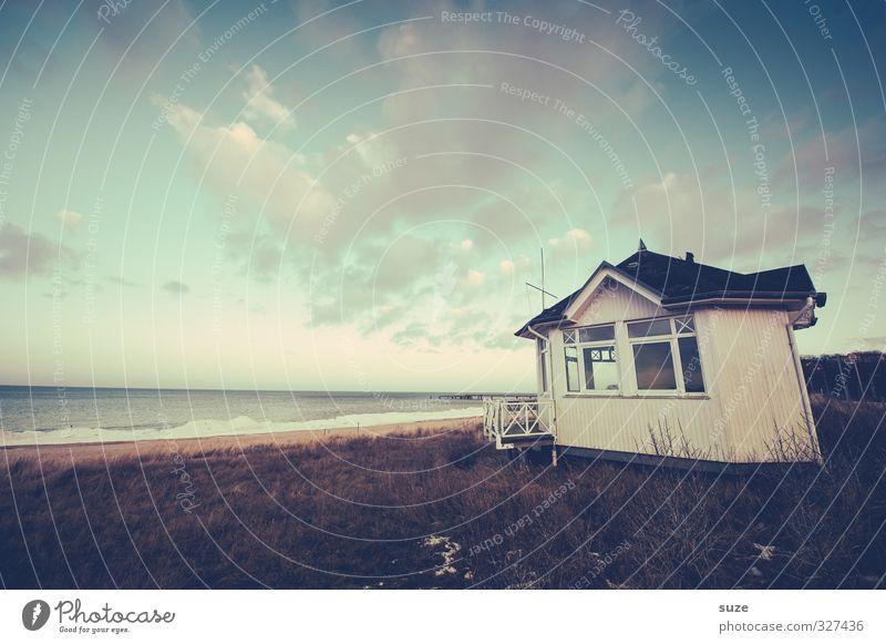 Für immer ab jetzt ... Ferien & Urlaub & Reisen Meer Umwelt Natur Landschaft Himmel Wolken Wetter Küste Ostsee Hütte authentisch einfach fantastisch kalt
