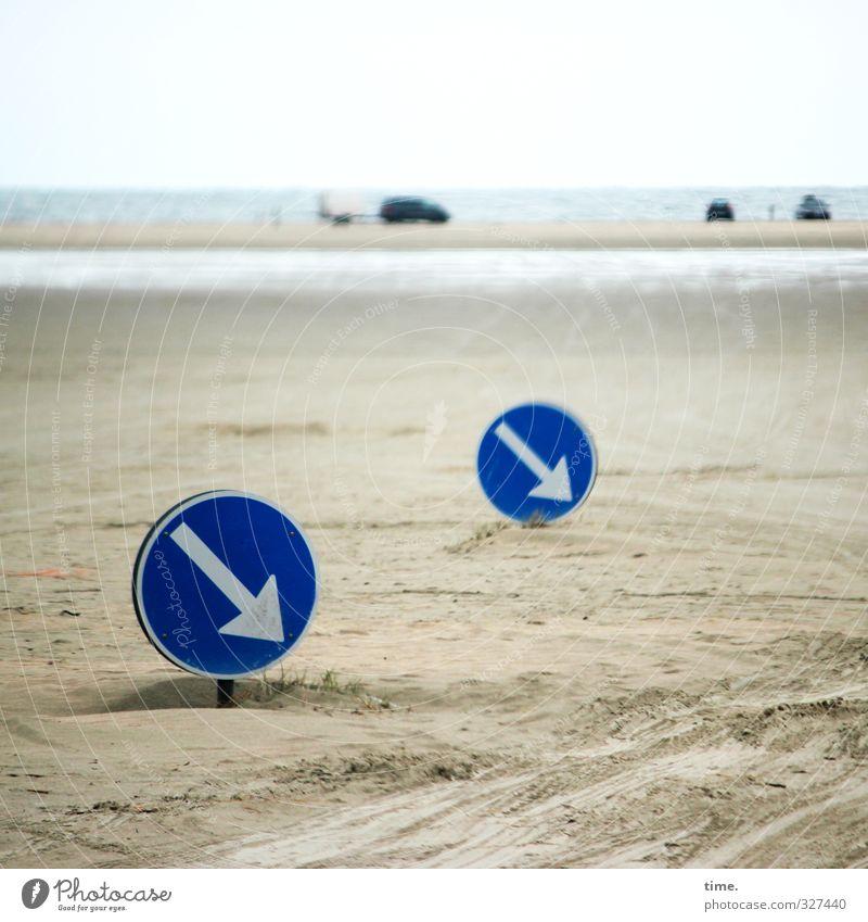 Rømø | Vorschriften, schon wieder Ferien & Urlaub & Reisen Meer Strand Bewegung Wege & Pfade Küste Horizont PKW Verkehr Ordnung Insel planen Nordsee