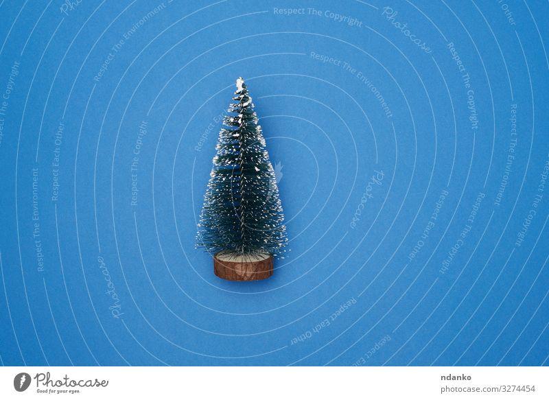 Weihnachtsdekoration Neujahrsbaum Stil Design Winter Dekoration & Verzierung Feste & Feiern Weihnachten & Advent Silvester u. Neujahr Baum Spielzeug neu blau