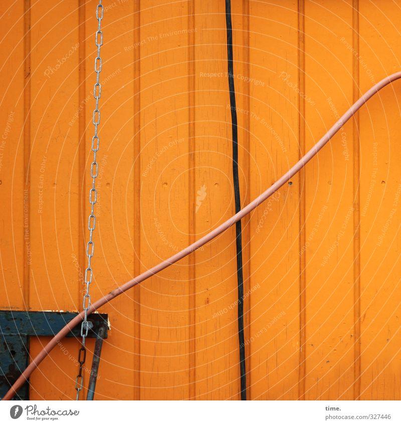 Rømø | Kreativecke Wand Bewegung Mauer Holz Metall außergewöhnlich Arbeit & Erwerbstätigkeit orange Energiewirtschaft lernen Elektrizität Technik & Technologie