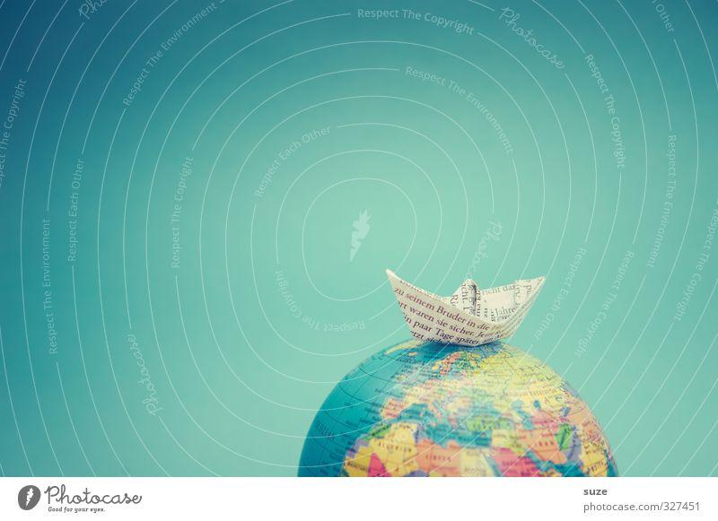 *2.400* Seemeilen Ferien & Urlaub & Reisen blau Meer Spielen Reisefotografie klein Erde Wasserfahrzeug Freizeit & Hobby Lifestyle niedlich Papier Kreativität
