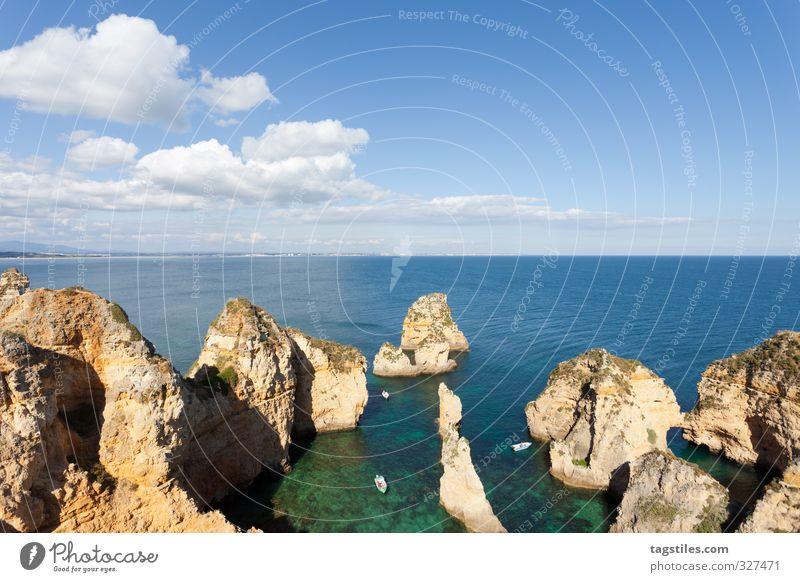 PONTA DA PIADADE Portugal Algarve Lagos Ponta da Piadade Felsalgarve Ferien & Urlaub & Reisen Reisefotografie Idylle Postkarte Tourismus Paradies Meer Atlantik