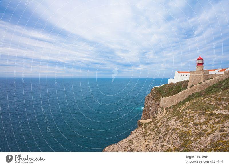 Letzte Bratwurst ... Portugal Algarve Cabo Sao Vincente São Vicente Leuchtturm Felsalgarve Ferien & Urlaub & Reisen Idylle Postkarte Tourismus Paradies Meer