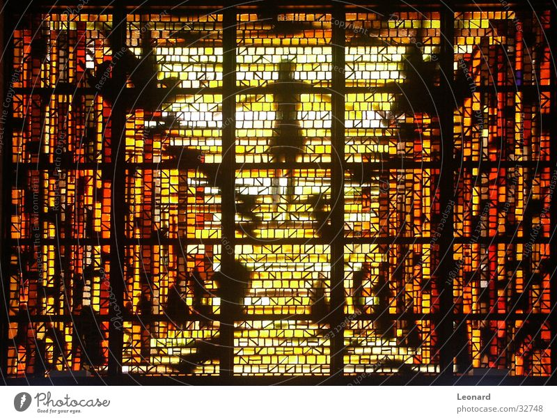 Fenster gelb Farbe Religion & Glaube Glas Handwerk Kristallstrukturen Kathedrale