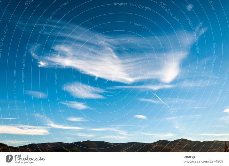 Gekämmte Wolken Himmel Natur Stimmung Wetter Landschaft Schönes Wetter Sommer Erholung Urelemente Umwelt ländlich Klimawandel Ausflug Tourismus Hügel Horizont