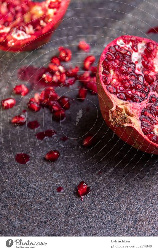 Granatapfel Lebensmittel Frucht Ernährung Bioprodukte Vegetarische Ernährung Gesunde Ernährung Küche Arbeit & Erwerbstätigkeit Essen genießen ästhetisch
