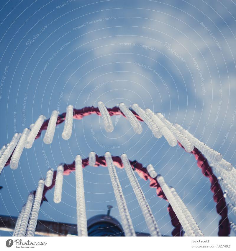 ............... Luft Himmel Wolken Dekoration & Verzierung Kitsch Krimskrams Sammlung Metall Kunststoff Linie hängen dünn schön lang retro Gelassenheit ruhig