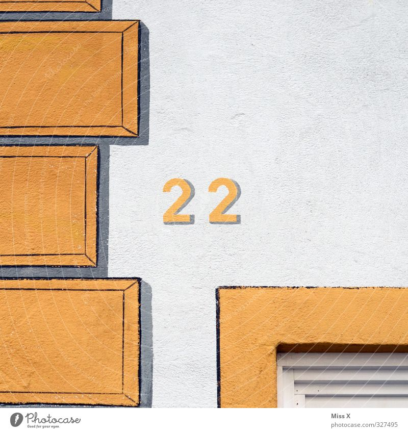 wär ich gern Haus Mauer Wand Ziffern & Zahlen 18-30 Jahre 2 Hausnummer Farbfoto mehrfarbig Außenaufnahme Detailaufnahme Menschenleer Textfreiraum rechts