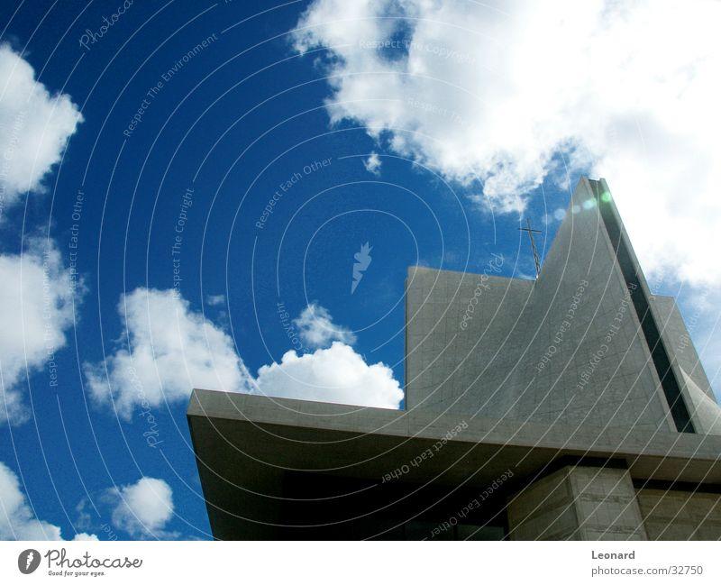 Kathedrale Himmel Wolken Religion & Glaube Rücken Perspektive modern Amerika Kathedrale Gotteshäuser San Francisco